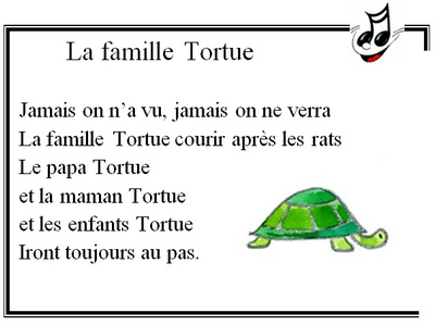 famille tortue - chant