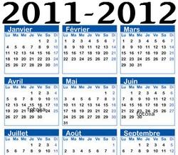 calendrier2011-2012